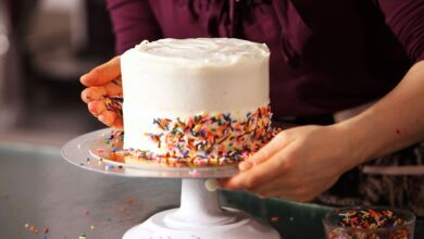 Photo of Easy Idea To Add Sprinkles On Cake